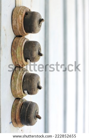Ancient switch - stock photo