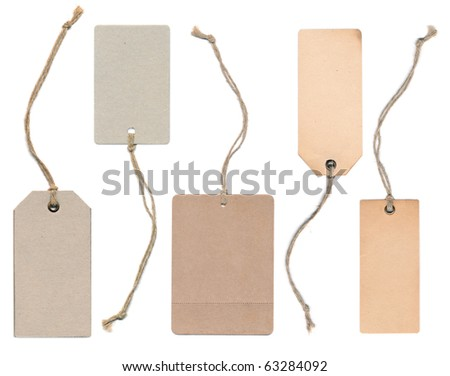 ancient tag collection - stock photo