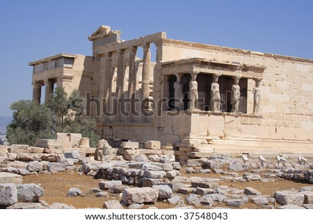 Ancient temple in Acropolis - Athens, ,Greece, Europe