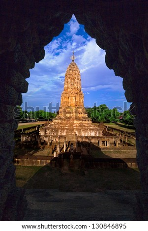 Ancient temple in Angkor wat, - stock photo
