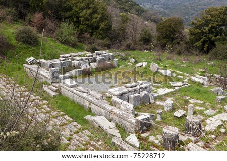 Ancient temple of Despoina at Lykosura in Greece