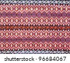 ancient thai woven cloth - stock photo
