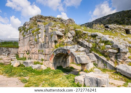 Ancient theater in Limyra, Turkey.