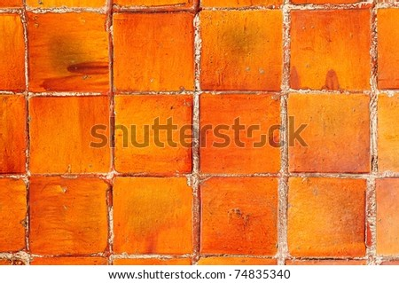 Ancient Tile mosaic glossy surface - stock photo