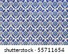 Ancient tile pattern on ceramic wall in Blue Mosque in Istanbul, Turkey - stock photo