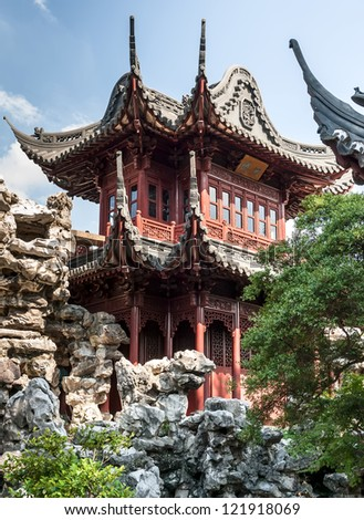 ancient traditional Chinese monastery of beautiful stones