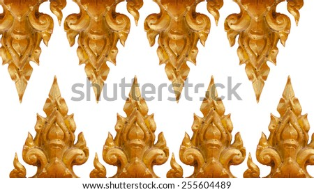 Ancient traditional Thai style texture. - stock photo