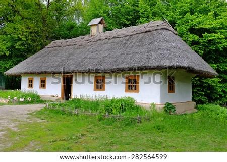Ancient traditional ukrainian house - stock photo