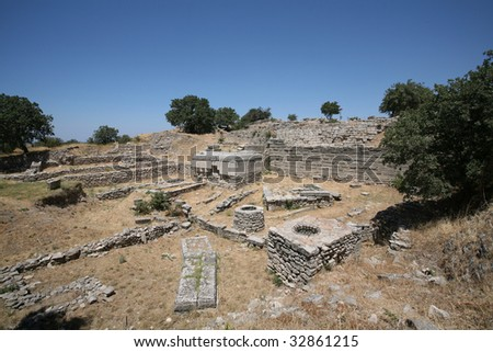 Ancient Troy - stock photo