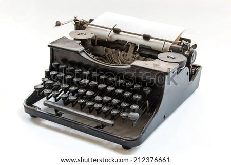 ancient typewriter - stock photo
