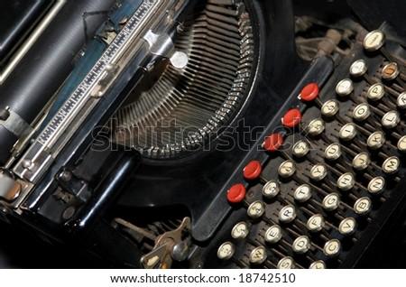 Ancient typing machine - stock photo
