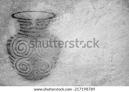 Ancient vase on a background - stock photo