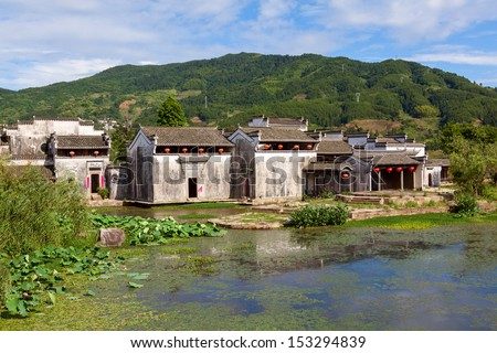 Ancient village of Chengkan in Anhui Province, China - stock photo