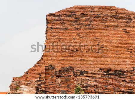 Ancient wall for textur and a background - stock photo