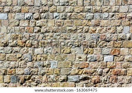 Ancient wall in Jerusalem - Israel - stock photo