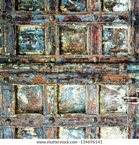 Ancient wall wood - stock photo