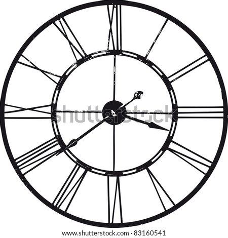 Ancient watch over white background
