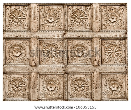 Ancient wood pattern ; contemporary style - stock photo