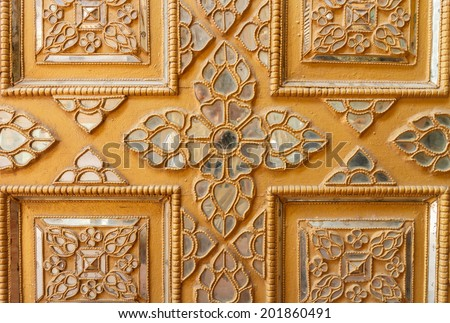 Ancient Wooden Myanmar style carving art - stock photo