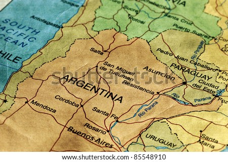 Argentina map stock images royalty free images vectors ancient world map of argentina sciox Gallery