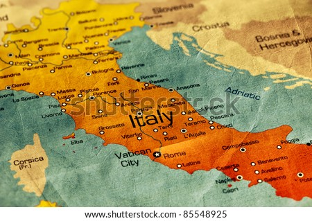 Ancient world map italy stock photo edit now 85548925 shutterstock ancient world map of italy gumiabroncs Choice Image