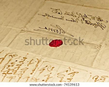 ancient writings - stock photo