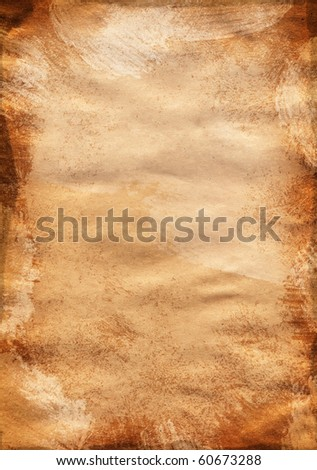 Ancient yellow brown a texture a paper empty without the text - stock photo