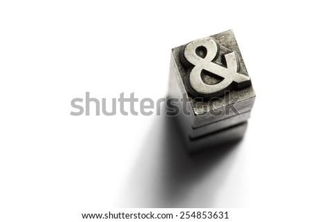 And sign metal alphabet - stock photo