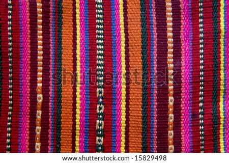 andean tapestry - stock photo
