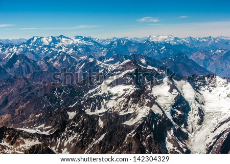 Andes Mountains - stock photo