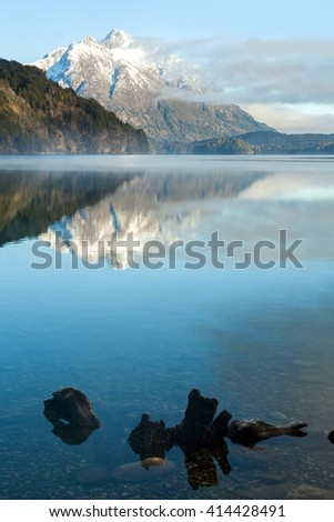 Andes Mountains and lake. Bariloche, Patagonia Argentina - stock photo