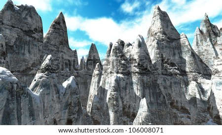 Andes mountains, Argentina Chile, aerial view - stock photo