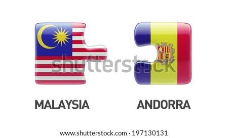 Andorra Malaysia High Resolution Puzzle Concept