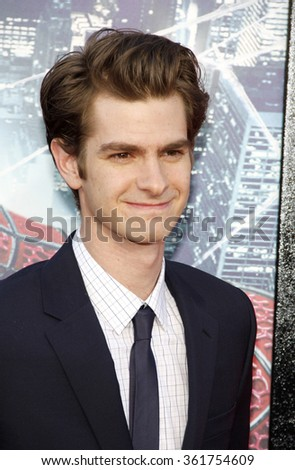 """Andrew Garfield at the Los Angeles premiere of """"The Amazing Spider-Man"""" held at the Grauman's Chinese Theater, Los Angeles, USA on June 28, 2012. - stock photo"""