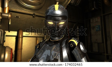 Android character - stock photo