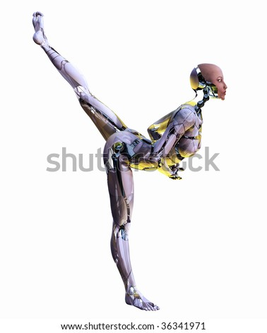 Android Dancer - stock photo