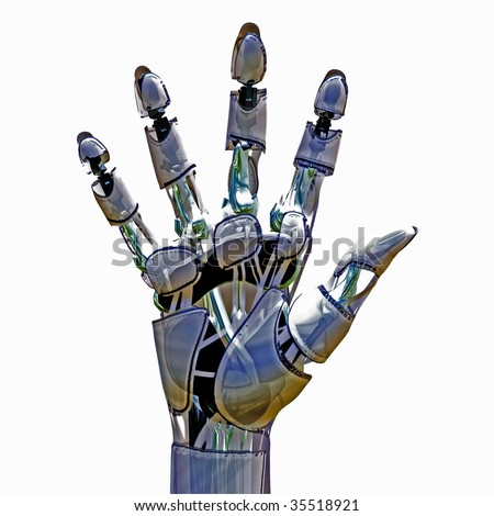 Android Hand - stock photo