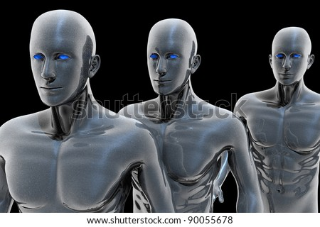 Android - technology of the future - stock photo