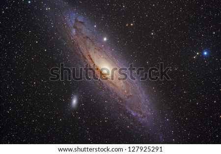 Andromeda galaxy - stock photo