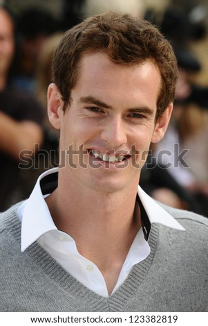 Andy Murray arriving for the Burberry Prorsum catwalk show as part of London Fashion Week SS13, Kensington Gardens, London. 17/09/2012 Picture by: Steve Vas