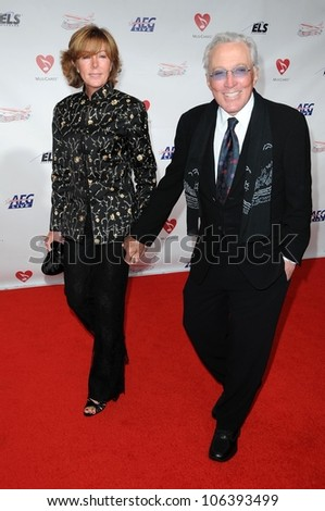 Andy Williams and wife Debbie  at the 2009 Musicares Person of the Year Gala. Los Angeles Convention Center, Los Angeles, CA. 02-06-09