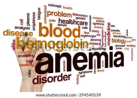 Anemia word cloud concept - stock photo
