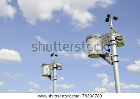 Anemometer Meteorology station - stock photo