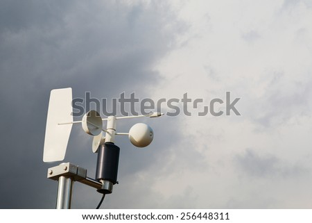 Anemometer on storm  - stock photo