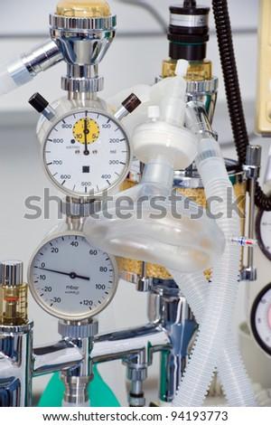 anesthetic machine - stock photo