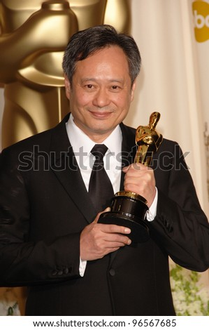 ANG LEE at the 78th Annual Academy Awards at the Kodak Theatre in Hollywood. March 5, 2006  Los Angeles, CA  2006 Paul Smith / Featureflash - stock photo