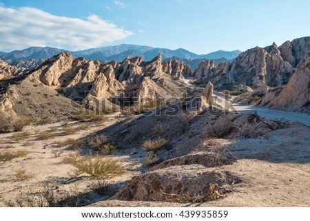Angastaco Nature Reserve in the Argentinian Andes.  - stock photo
