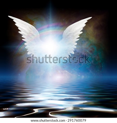 Angel and Water - stock photo