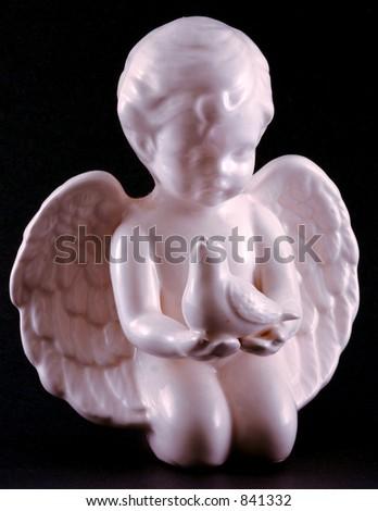 Angel & Bird - stock photo