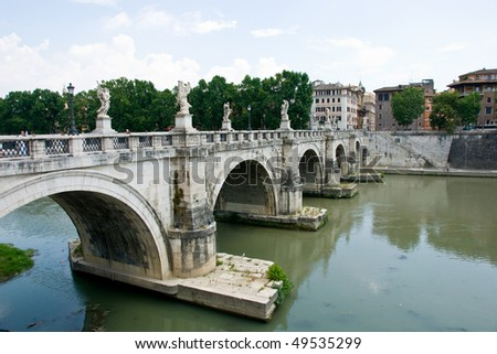Angel bridge, Rome